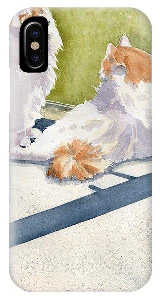 Porch iPhone Case - Soaking Up Some Rays by Marsha Elliott