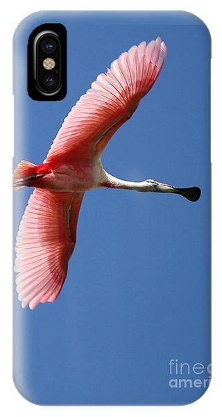 Soaring High Roseate Spoonbill IPhone Case