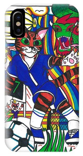 Soccer Cat IPhone Case