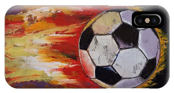 Soccer iPhone Case - Soccer by Michael Creese