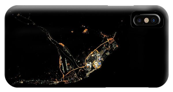 International Space Station iPhone Case - Sochi Olympic Park At Night From Space by Nasa