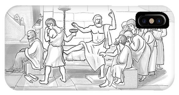 Trial iPhone Case - Socrates Drinking Hemlock by Paul Noth