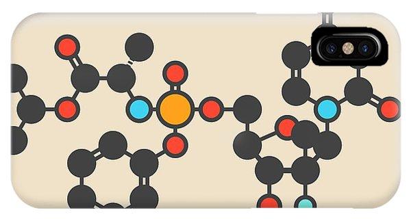 Virus iPhone Case - Sofosbuvir Hepatitis C Drug Molecule by Molekuul