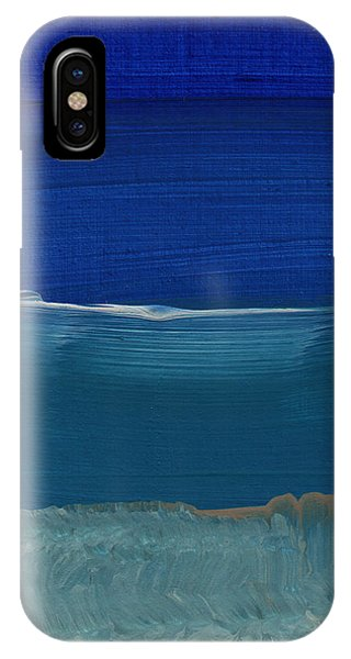 Los Angeles iPhone Case - Soft Crashing Waves- Abstract Landscape by Linda Woods