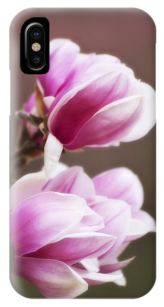 Soft Magnolia Blossoms IPhone Case