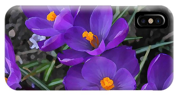 Soft Purple Crocus IPhone Case