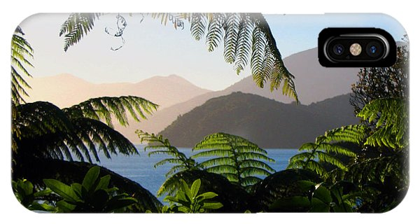 Soft Sun On Hills Through Ferns IPhone Case