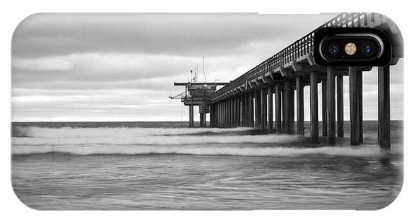 Scripps Pier iPhone Case - Soft Waves At Scripps Pier by Ana V Ramirez