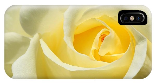 Soft Yellow Rose IPhone Case