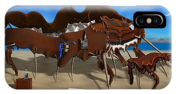 Buzzard iPhone Case - Softe Grand Piano Left Handed Panoramic by Mike McGlothlen