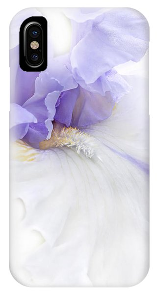 IPhone Case featuring the photograph Softness Of A Lavender Iris Flower by Jennie Marie Schell