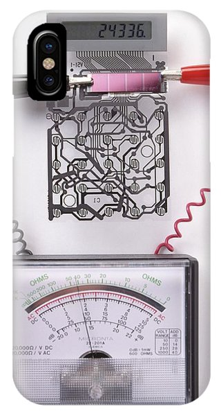 Electrical Component iPhone Case - Solar Cell Inside A Calculator by Dorling Kindersley/uig