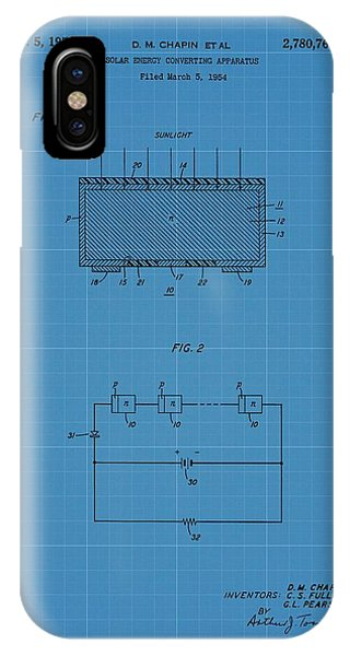 Solar Panel Blueprint Patent IPhone Case
