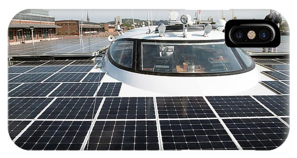 Catamaran iPhone Case - Solar-powered Boat by Andrew Wheeler
