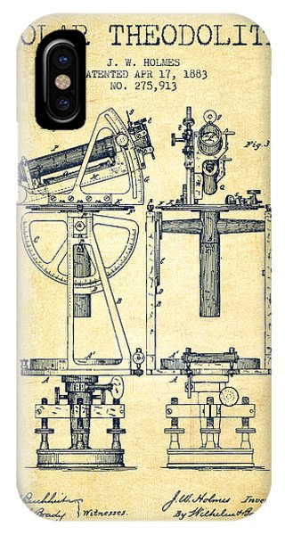 Solar Theodolite Patent From 1883 - Vintage IPhone Case