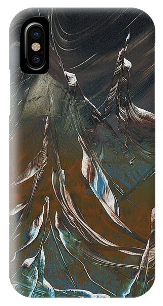 IPhone Case featuring the painting Solar Winds by Jason Girard