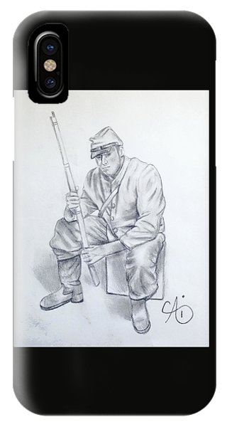 Waiting Soldier IPhone Case