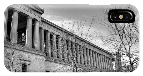 Soldier Field In Black And White IPhone Case