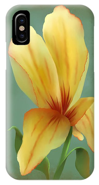 Solitary Yellow Tulip IPhone Case