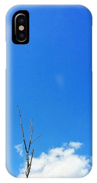 Barren iPhone Case - Solitude - Blue Sky Art By Sharon Cummings by Sharon Cummings