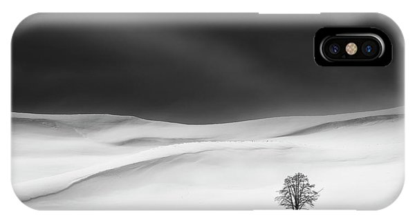 Simple Landscape iPhone Case - Solitude by Huibo Hou