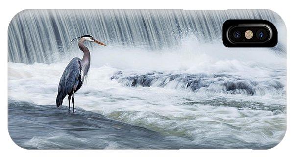 Heron iPhone Case - Solitude In Stormy Waters by Mircea Costina