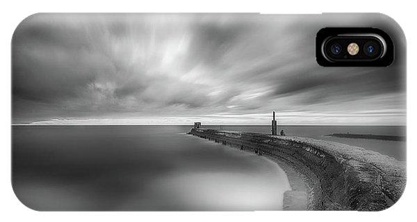 Pier iPhone Case - Solitude by Keren Or