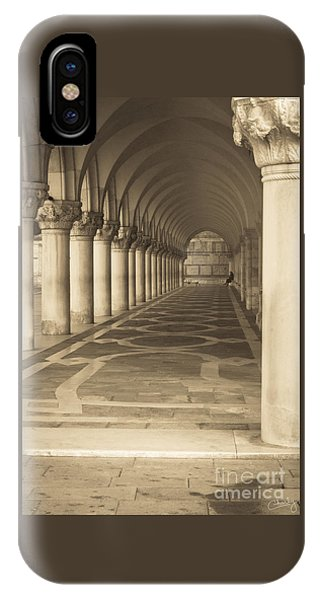 Solitude Under Palace Arches IPhone Case