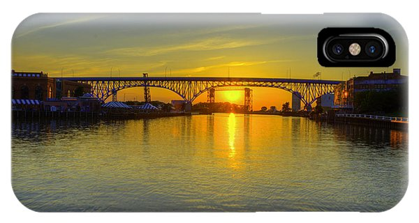 Solstice On The Cuyahoga River IPhone Case