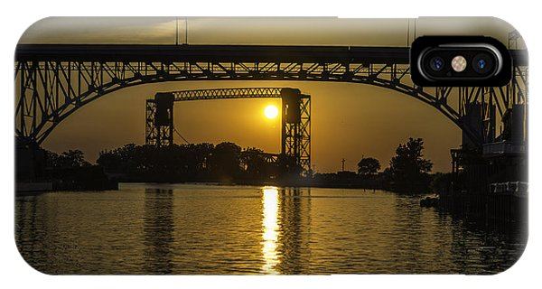 Solstice Sun Through Two Bridges IPhone Case