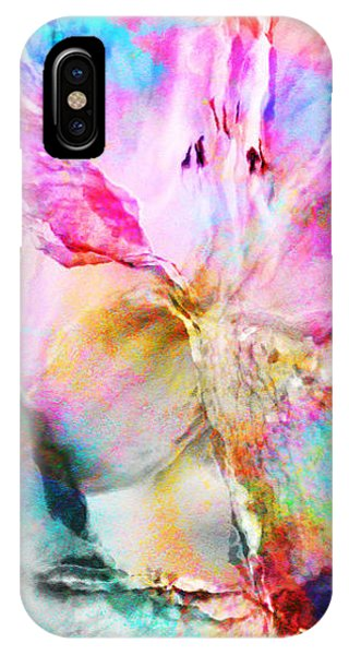 IPhone Case featuring the painting Somebody's Smiling - Abstract Art by Jaison Cianelli