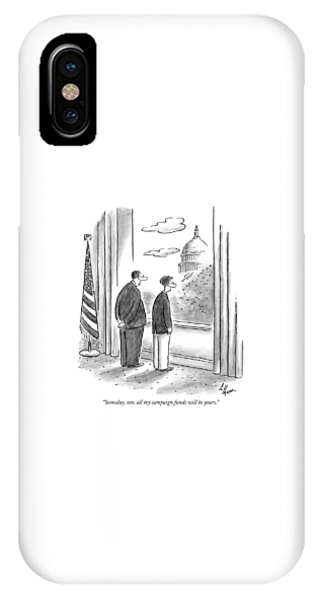 Capitol Building iPhone Case - Someday, Son, All My Campaign Funds Will Be Yours by Frank Cotham