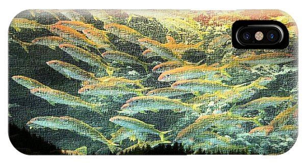 Treeline iPhone Case - Something Fishy In The Air by Ellen Cannon