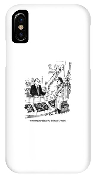 Something That Dazzles But Doesn't Say 'forever.' IPhone Case
