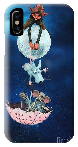Dark Humor iPhone Case - Sometimes At Night by Jutta Maria Pusl