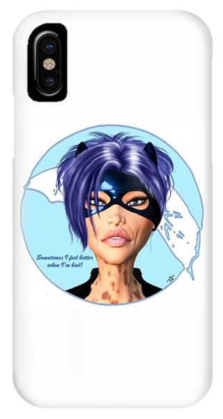 Luxmaris iPhone Case - Sometimes I Feel Better When I'm Bad by Renate Janssen