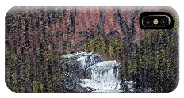 Somewhere Along A Waterfall IPhone Case
