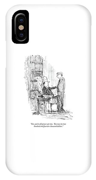 Debts iPhone Case - Son, You're All Grown Up Now.  You Owe Me Two by Robert Weber