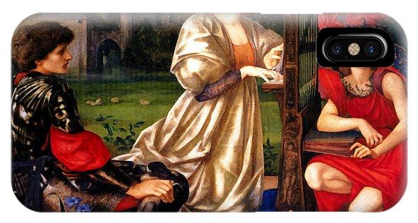 Harp iPhone Case - Song Of Love by Edward Burne Jones