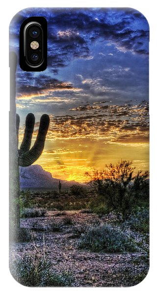 Skyscape iPhone Case - Sonoran Sunrise  by Saija  Lehtonen