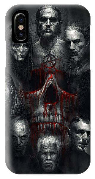 Death iPhone Case - Sons Of Anarchy Tribute by Alex Ruiz