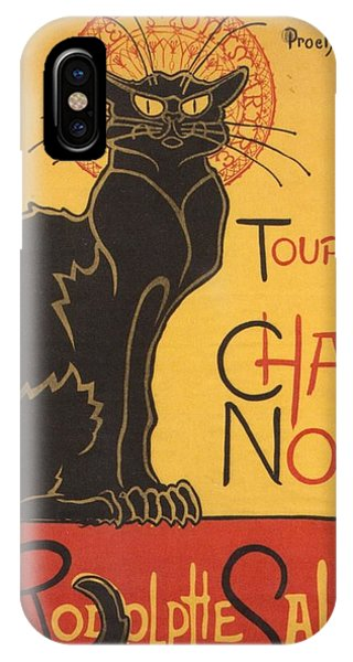Soon The Black Cat Tour By Rodolphe Salis  IPhone Case