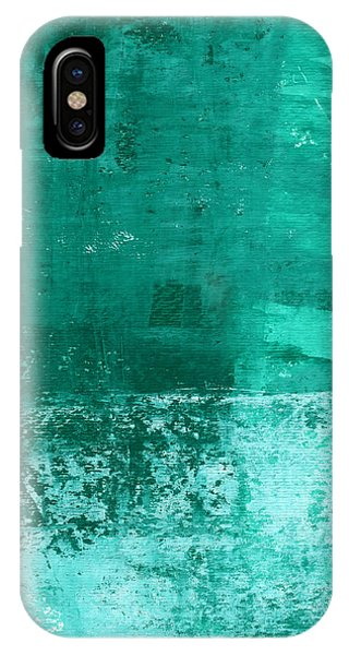 Los Angeles iPhone Case - Soothing Sea - Abstract Painting by Linda Woods