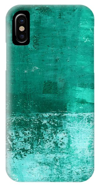 Cute iPhone Case - Soothing Sea - Abstract Painting by Linda Woods