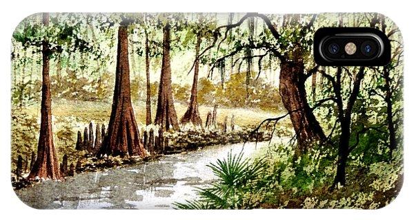 Wakulla iPhone Case - Sopchoppy River Florida by Bill Holkham