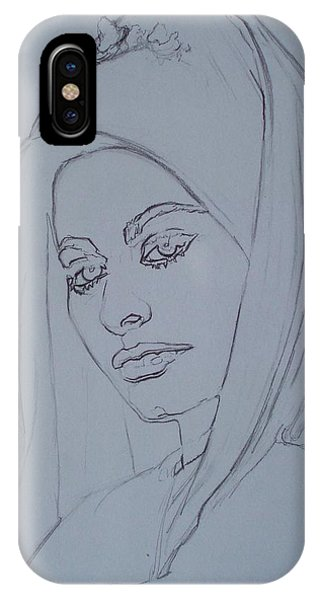 Sophia Loren In Headdress IPhone Case
