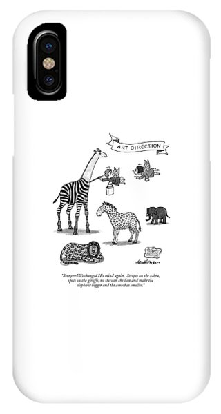 Sorry - He's Changed His Mind Again.  Stripes IPhone Case