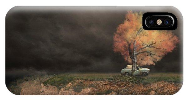 Car iPhone Case - Sortie De Route 4 by David Senechal Photographie