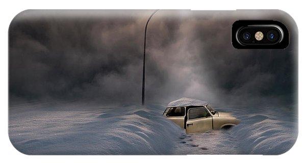 Car iPhone Case - Sortie De Routre by David Senechal Photographie