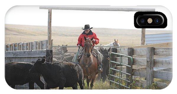 Sorting Heifers Phone Case by Lee Raine